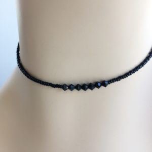 black-seed-bead-choker-seven-black-crystals
