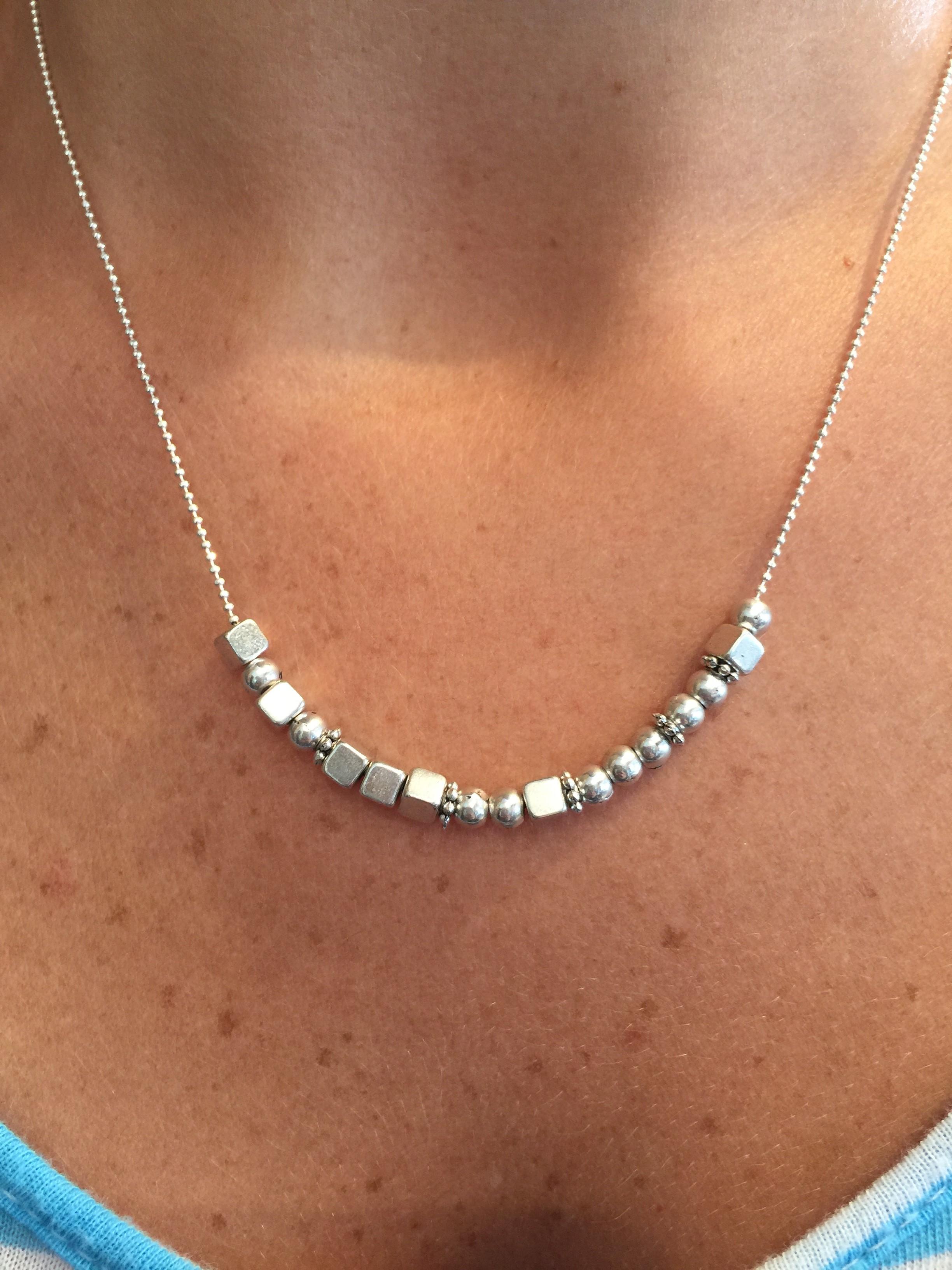 cousin morse code silver necklace � cousin � silver