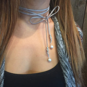 grey-suede-wrap-lariat-necklace-pearl