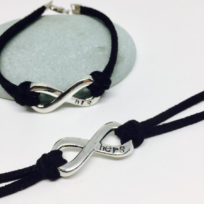 His and Hers Hand Stamped Infinity Bracelet