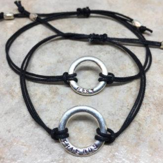Best Friends Hand Stamped Bracelets 1
