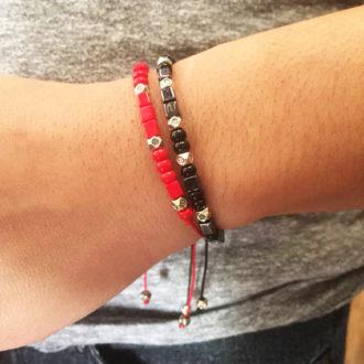 Morse Code Adjustable Custom Bracelets Lifestyle Stack 2
