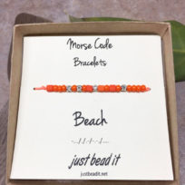 Morse Code Beach Adjustable Bracelet