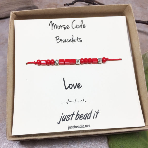 Morse Code Love Adjustable Bracelet 1