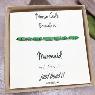 Morse Code Mermaid Adjustable Bracelet