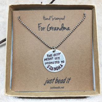 Grandma Hand Stamped Necklace Box