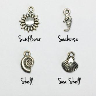 Beach Glass Earrings Charm Options
