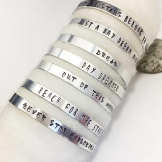 Inspirational Zodiac Bangle Bracelet