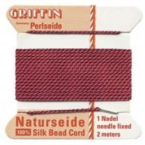 griffin silk cord #4 garnet