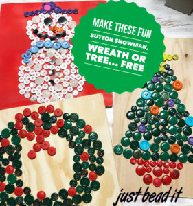 Free Promo Button project tree, wreath, snowman