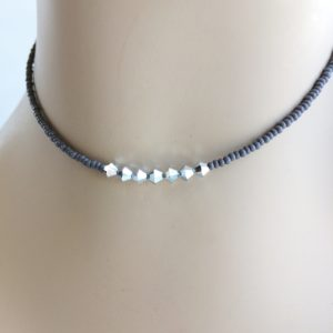 grey-seed-bead-choker-seven-metal-beads