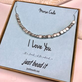 Morse Code Necklace I Love You Box