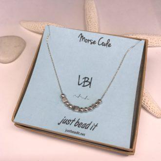 Morse Code Necklace Silver LBI