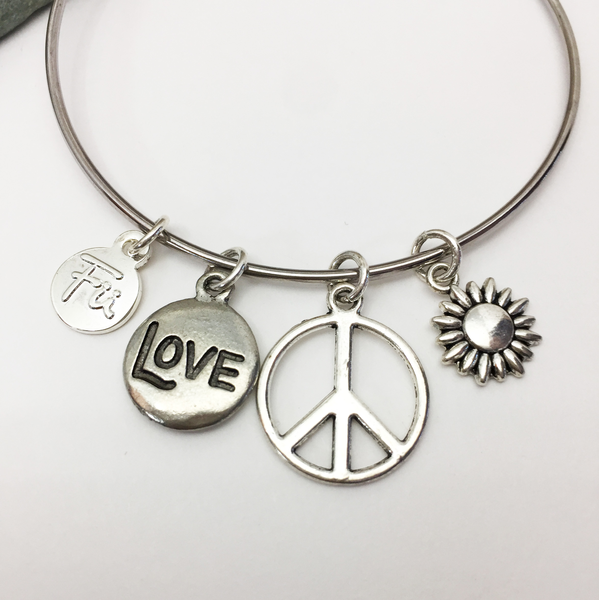plain one sterling charms sign stretch handcrafted is peace heart products charm zen fish star adorable and bracelets symbol cute feather accessory silver pb stylish details bracelet this a fashion
