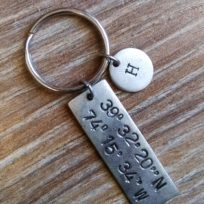 coordinates-with-town-initials-keychain