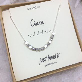 custom name morse code necklace