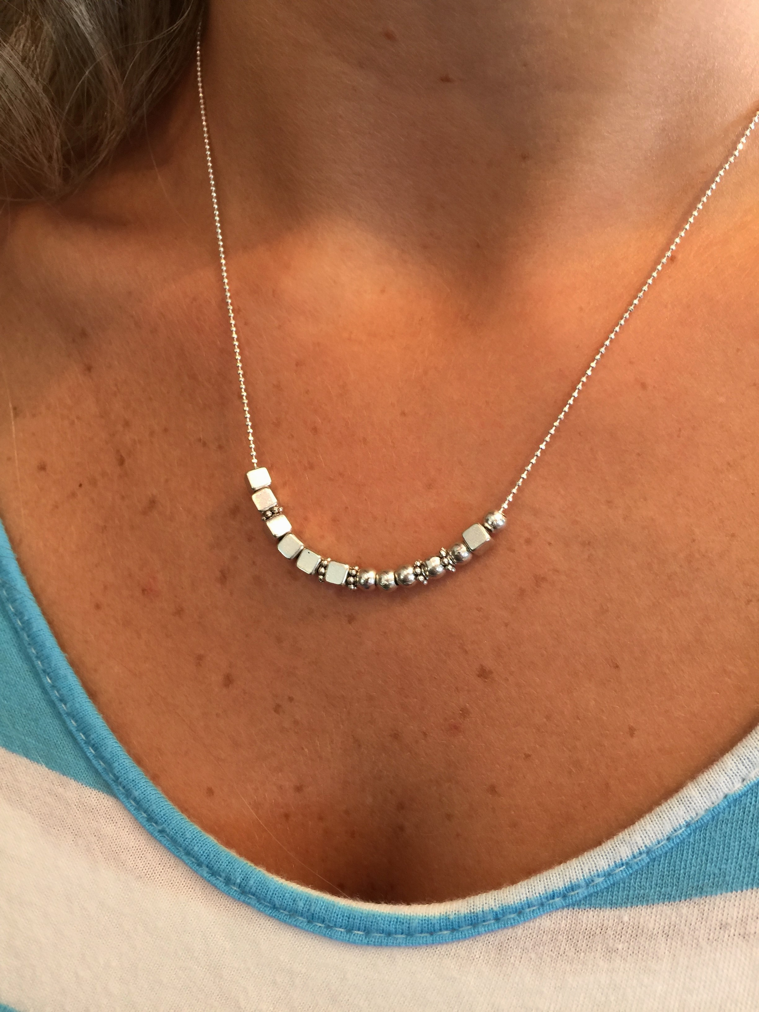 Mother Morse Code Silver Necklace Mother Silver