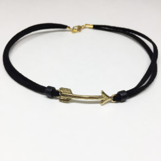 arrow-choker-gold-white