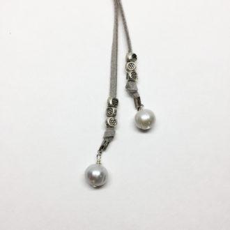 grey-suede-wrap-lariat-necklace-pearl-closeup