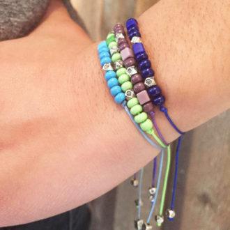 Morse Code Adjustable Custom Bracelets Lifestyle Stack 3