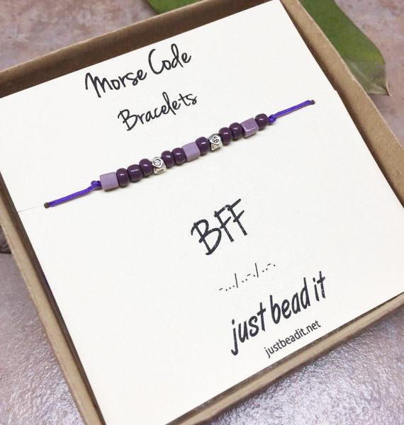 Morse Code BFF Adjustable Bracelet 1
