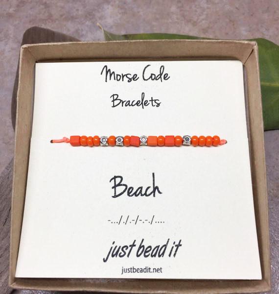 Morse Code Beach Adjustable Bracelet