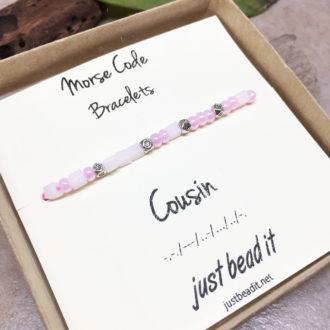 Morse Code Cousin Adjustable Bracelet