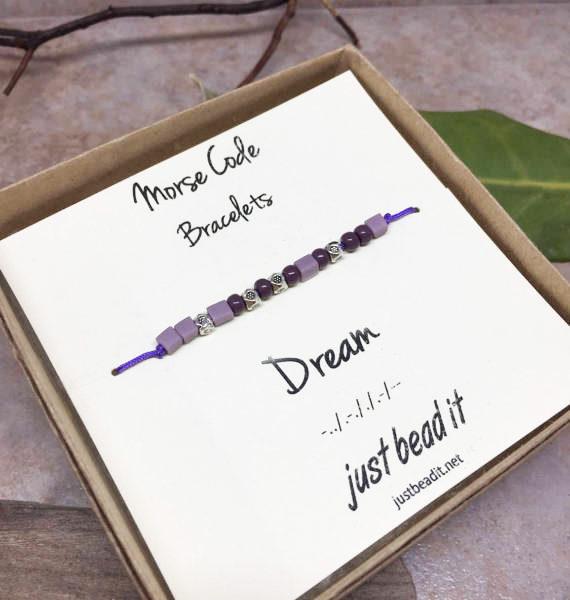 Morse Code Dream Adjustable Bracelet