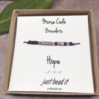 Morse Code Hope Adjustable Bracelet 1