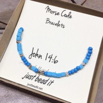 Morse Code John 14.6 Adjustable Bracelet 1