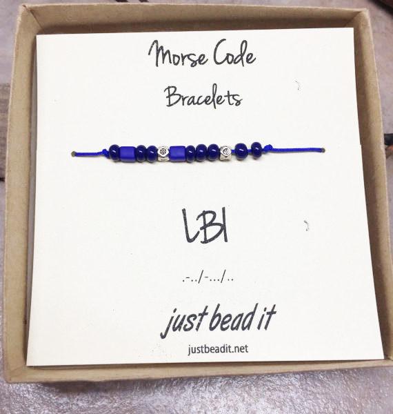 Morse Code LBI Adjustable Bracelet