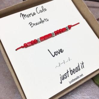 Morse Code Love Adjustable Bracelet