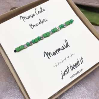 Morse Code Mermaid Adjustable Bracelet 1