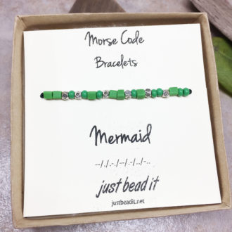 Morse Code Mermaid Adjustable Bracelet