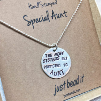 Aunt Hand Stamped Necklace Box
