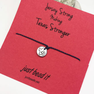 Texas Strong Hand Stamp Adjustable Bracelet