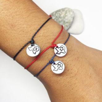 Texas Strong Hand Stamp Adjustable Bracelet Wrist