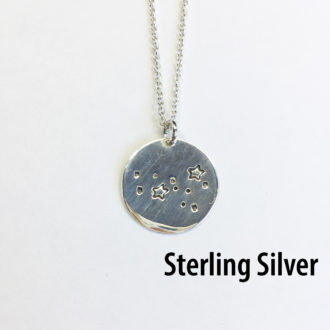 Constellation Sterling Silver Hand Stamped Necklace White 2