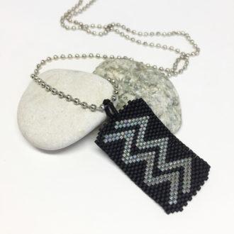 Zodiac Dog Tag Hand Beaded Necklace