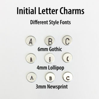 Initial Letter Charms Different Font Styles