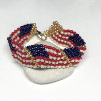 american flag bracelet loop