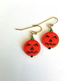 pumpkin earrings cover