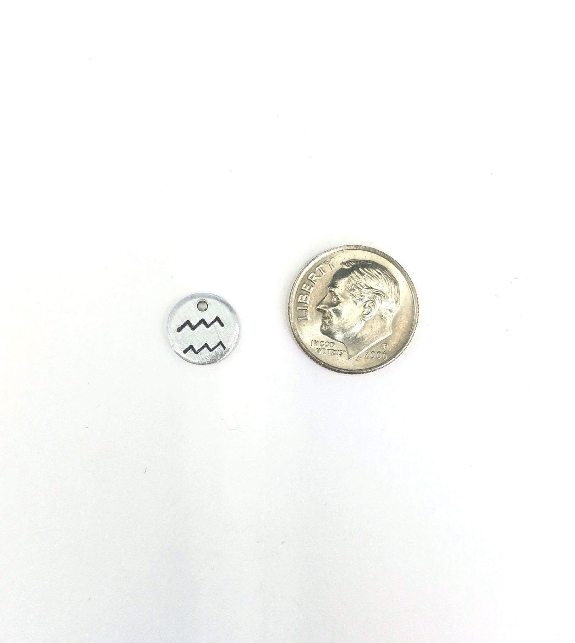 Zodiac Symbol Hand Stamped Charm Add On Just Bead It