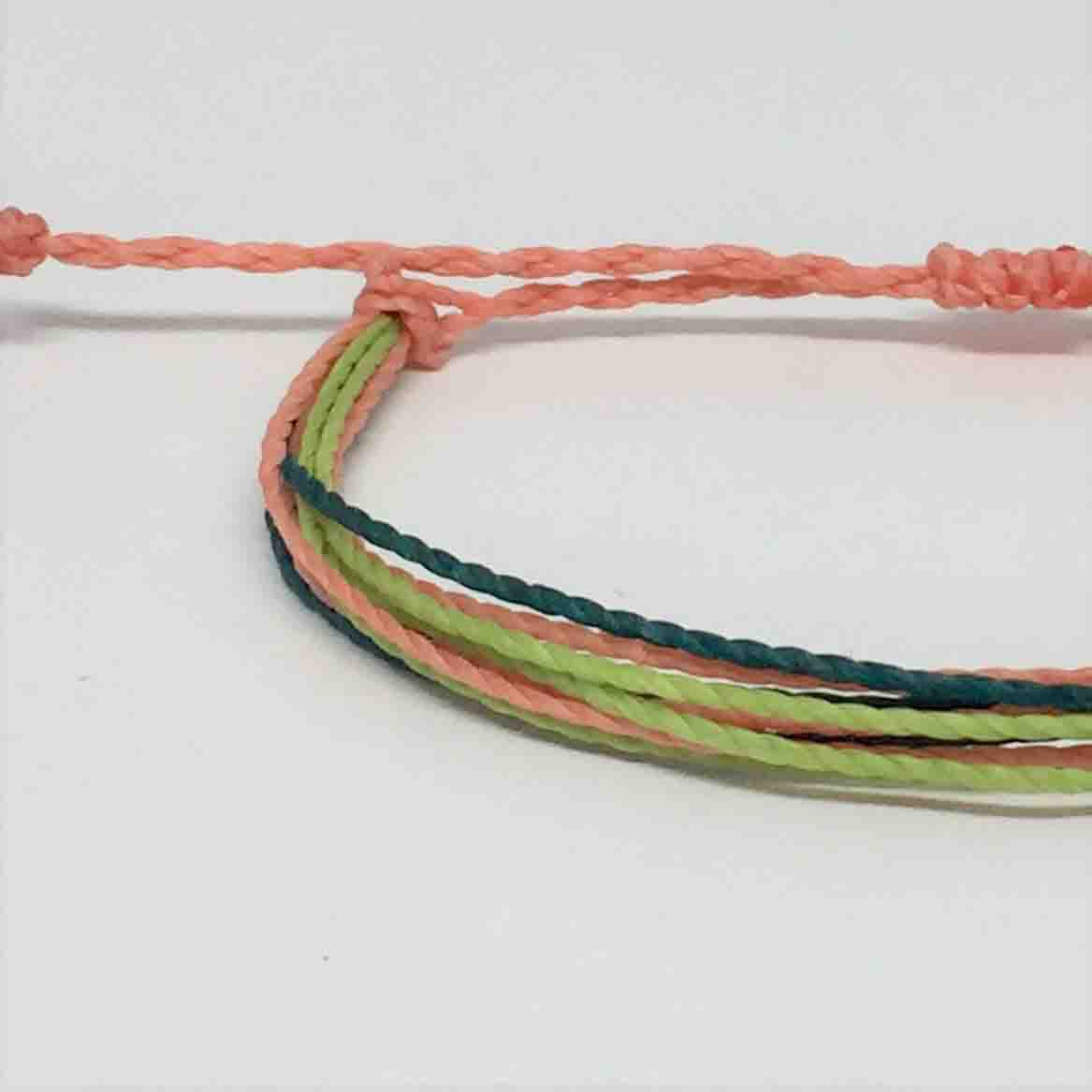 Waterproof Freeform Anklet In Our Tigerlily Color Palette